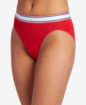 Retro Lingerie, Vintage Lingerie, New 1950s,1960s, 1970s Jockey Retro Stripe Hi-Cut Panty 2254 First at Macys also available in extended sizes $11.50 AT vintagedancer.com