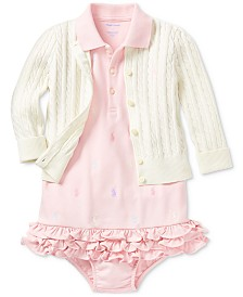 Ralph Lauren Baby Girls Pony Perfect Ensemble