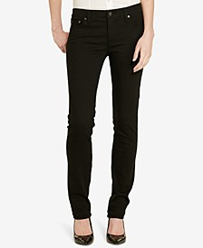 Petite Dark Wash Modern Straight Curvy Jeans, Petite & Petite Short