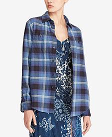 Polo Ralph Lauren Twill Plaid Cotton Shirt