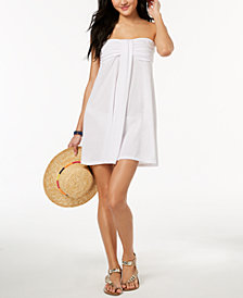 Hula Honey Juniors Strapless Bandeau Cover-Up