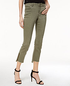 I.N.C. Curvy-Fit Step-Hem Skinny Jeans, Created for Macy's