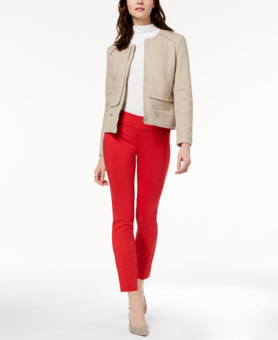 Alfani Knit Jacket, Turtleneck Top & Skinny Pants, Created for Macy's