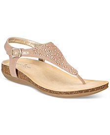 Bandolino Herby Embellished Thong Wedge Sandals