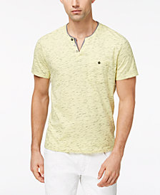 I.N.C. Speckled Henley Shirt, Created for Macy's