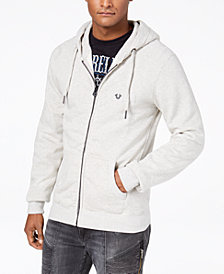 True Religion Men's Shoestring Horseshoe Hoodie