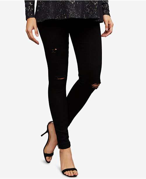 AG Jeans Maternity Destructed Skinny Jeans