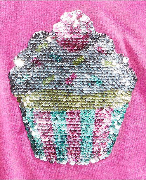 e74aa1e55 Kandy Kiss Reversible-Sequin Cupcake Cold Shoulder Top, Big Girls ...