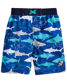 Laguna Underwater Gills Shark-Print Swim Trunks, Toddler & Little Boys