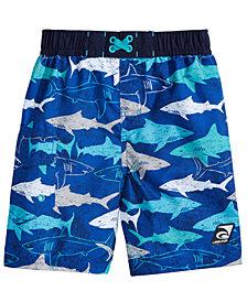 Laguna Underwater Gills Shark-Print Swim Trunks, Toddler & Little Boys