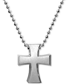 Alex Woo Cross Pendant Necklace in Sterling Silver