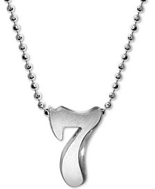 Alex Woo Number 7 Pendant Necklace in Sterling Silver