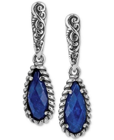 Caroly Pollack Lapis Lazuli/Rock Quartz Drop Earrings (4-7/8 ct. t.w.) in Sterling Silver