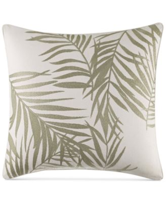 """Palms Away 16"""" x 16"""" Embroidered Decorative Pillow"""