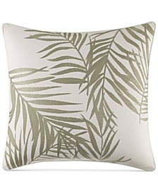 "CLOSEOUT! Tommy Bahama Home Palms Away 16"" x 16"" Embroidered Decorative Pillow"