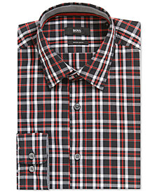 BOSS Men's Regular/Classic-Fit Plaid Cotton Sport Shirt