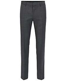 BOSS Men's Slim-Fit Piped Virgin Wool Dress Pants