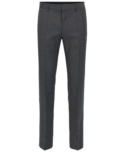 BOSS Men's Slim-Fit Piped Virgin Wool Dress Pants