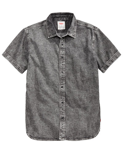 Levi's® Men's Fench Textured Yarn-Dyed Denim Shirt - Casual Button ...
