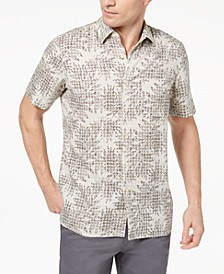 Island Men's Leaf Medallion-Print Shirt, Created for Macy's
