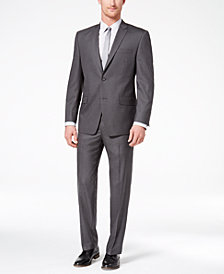 Marc New York by Andrew Marc Men's Classic-Fit Stretch Medium Gray Solid Suit