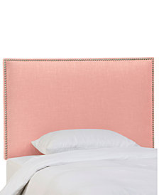 Paiton Queen Headboard with Nailhead Trim, Quick Ship