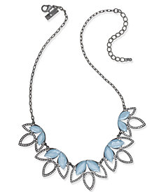 I.N.C. Hematite-Tone Pavé & Blue Stone Statement Necklace, Created for Macy's