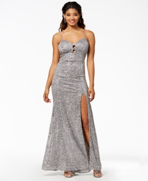 B Darlin Juniors Sequined Sweetheart Gown a Macys Exclusive Style