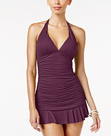 Lauren Ralph Lauren Beach Halter Tankini Top & Ruffled Swim Skirt