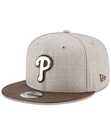 New Era Philadelphia Phillies Oatmeal O'Gold 9FIFTY Snapback Cap