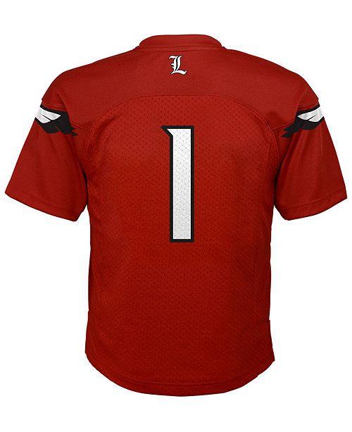 sports shoes bb6de a6990 adidas Louisville Cardinals Replica Football Jersey, Big ...