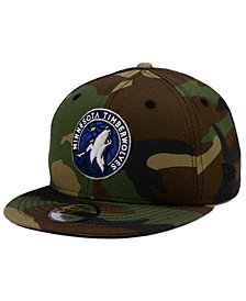 New Era Boys' Minnesota Timberwolves Woodland Team 9FIFTY Snapback Cap