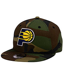 New Era Boys' Indiana Pacers Woodland Team 9FIFTY Snapback Cap