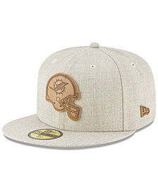 New Era Miami Dolphins Heathered Helmet 59FIFTY Fitted Cap