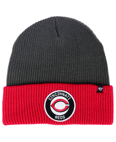 '47 Brand Cincinnati Reds Ice Block Cuff Knit Hat