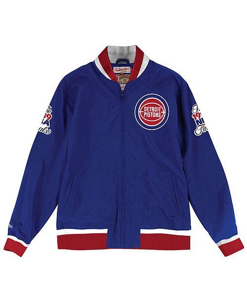 d89804790 ... Up Jacket  Mitchell   Ness Men s Detroit Pistons Team History Warm ...