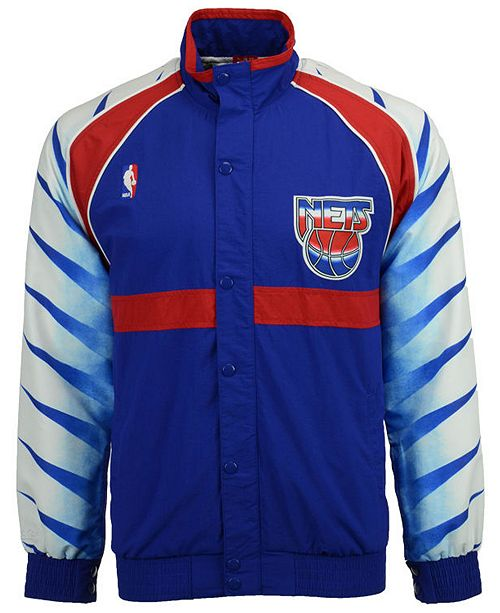 02d700aa ... Jacket; Mitchell & Ness Men's New Jersey Nets Authentic Warm ...