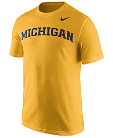 Nike Men's Michigan Wolverines Cotton Wordmark T-Shirt