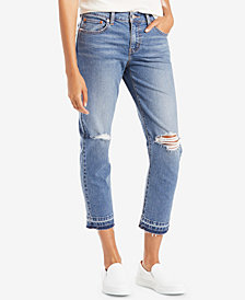 Levi's® Ripped Released-Hem Boyfriend Jeans