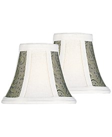 "Lite Source Set of 2 Clip-on 5"" Jacquard Chandelier Shade"