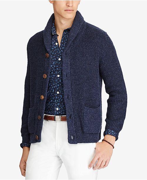 47c93e1eb491 Polo Ralph Lauren Men s Shawl Cardigan   Reviews - Sweaters ...