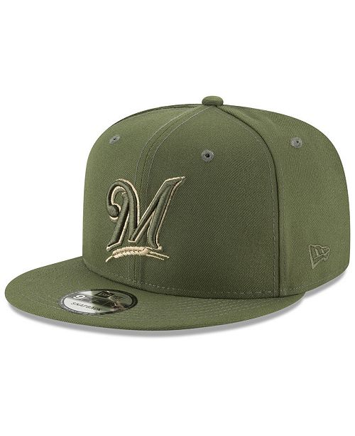 reputable site f48e2 62067 ... New Era Milwaukee Brewers Fall Shades 9FIFTY Snapback Cap ...