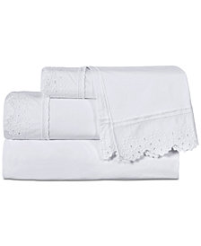 Piper & Wright Eyelet 4-Pc. California King Sheet Set
