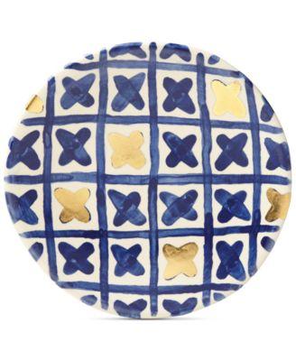 Lenox-Wainwright Pompeii Blu Land Salad Plate, Created for Macy's