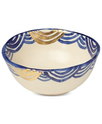 Lenox-Wainwright Pompeii Blu Sea Cereal Bowl, Created for Macy's