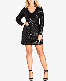 City Chic Trendy Plus Size Sequined Dress
