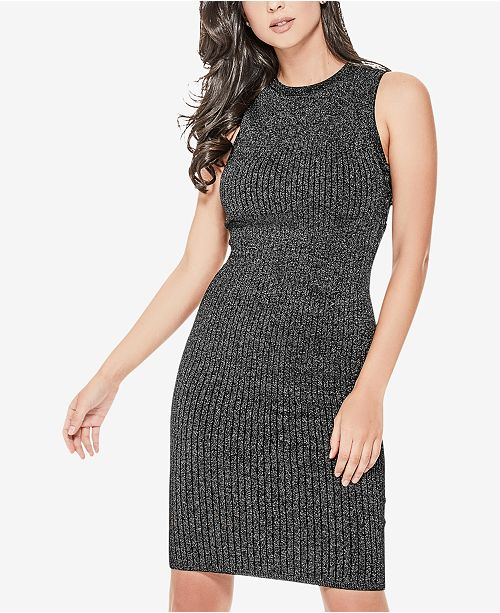 ea074ddaf71 GUESS Nathalie Shimmer Lace-Up Sweater Dress   Reviews ...