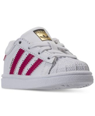 adidas Toddler Girls\u0027 Superstar Sneakers from Finish Line