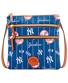 Dooney & Bourke New York Yankees Nylon Triple Zip Crossbody