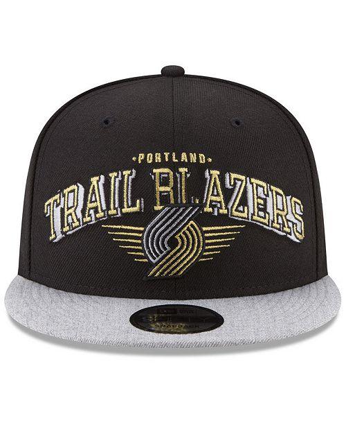 online retailer 5e9d6 2814f ... spain new era. portland trail blazers gold mark 9fifty snapback cap. be  the first